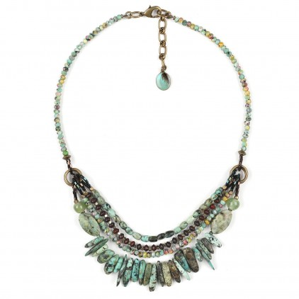Tarawera Collier éclats de turquoise - Nature Bijoux