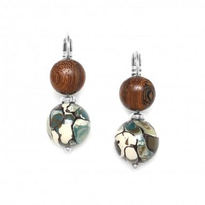 Greenway Dormeuses perle ronde - Nature Bijoux