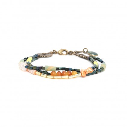 KUMASI - bracelet 3 rangs - Nature Bijoux
