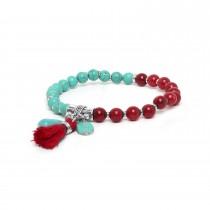 Les duos Turquoise howlite & dyed jade bracelet - Nature Bijoux