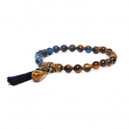 Les duos Bracelet lapiz & corne noire - Nature Bijoux