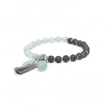 Les duos Hematite & amazonite bracelet - Nature Bijoux