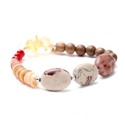 DESERTIGO - extensible perles ovales - Nature Bijoux