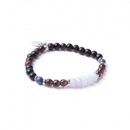 BB BLUES - Bracelet élastique fin perles - Nature Bijoux