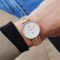 Le Couronnement 3-Link Rose Gold Winter white/Rose Gold - CLUSE