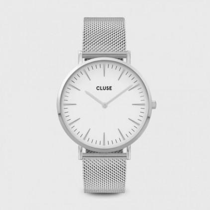 La Bohème Mesh, Silver, White/Silver- CLUSE