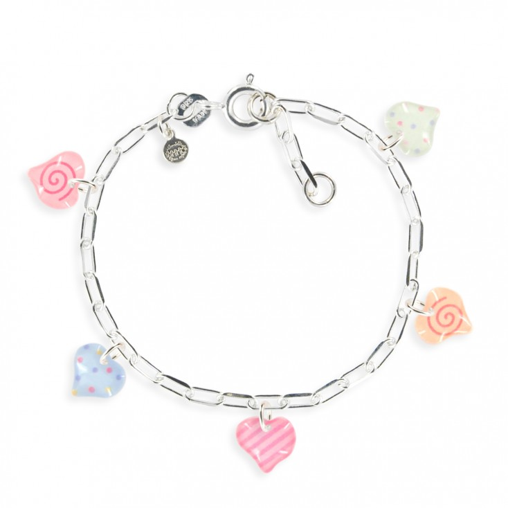 Bracelet figaro cœur rose - Ribambelle Bijoux