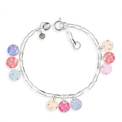 Bracelet chaîne Confettis Argent 925 - Ribambelle Bijoux