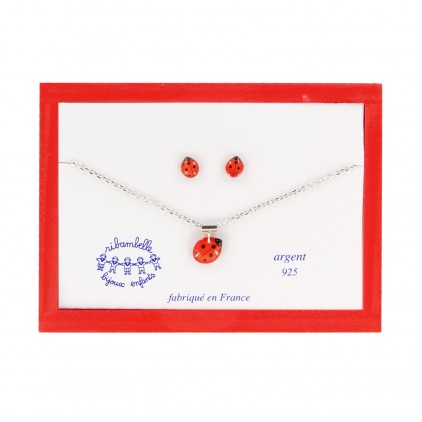 Coffret B.O. tiges coccinelle - Ribambelle Bijoux