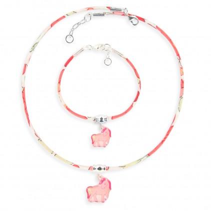 Collier et Bracelet Liberty Licorne - Ribambelle Bijoux