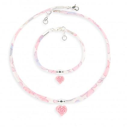 Collier et Bracelet Liberty Coeur - Ribambelle Bijoux