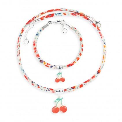 Collier et Bracelet Liberty Cerise - Ribambelle Bijoux