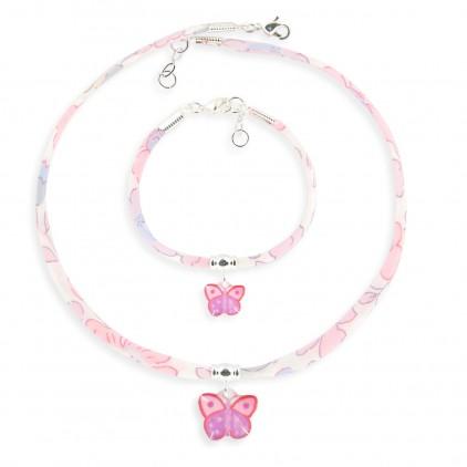 Collier et Bracelet Liberty Papillon - Ribambelle Bijoux