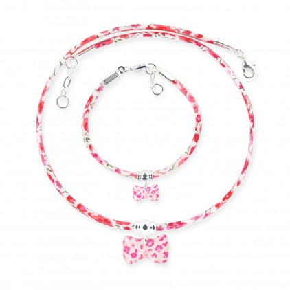 Collier et Bracelet Liberty Noeud - Ribambelle Bijoux