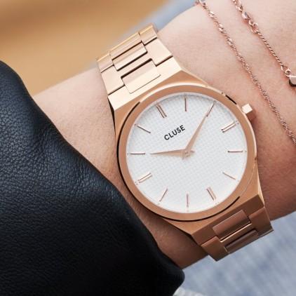 Vigoureux Steel, Rose gold Snow White/Rose Gold - CLUSE