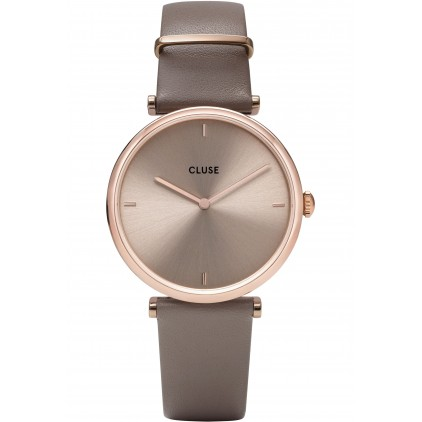 Triomphe Leather Rose Gold Soft Taupe/Soft Taupe - CLUSE