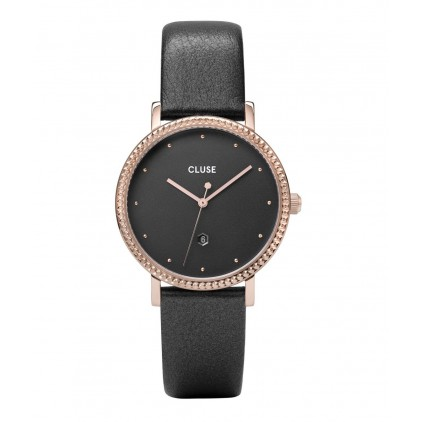 Le Couronnement Leather Rose Gold Dark Grey/Dark Grey - CLUSE