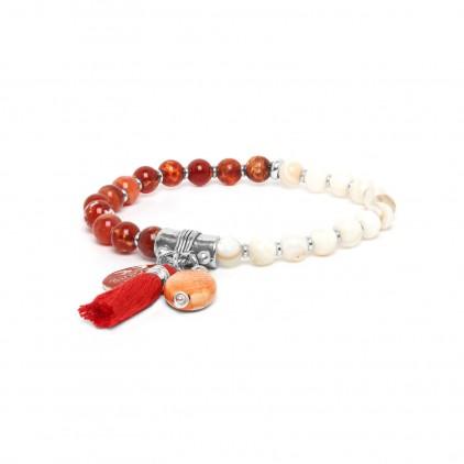 LES DUOS - bracelet strombus & agate - Nature Bijoux