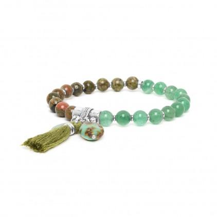 LES DUOS - bracelet aventurine & jaspe - Nature Bijoux