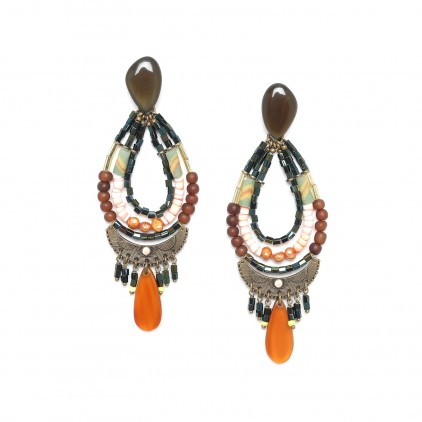 KUMASI - boucles d'oreilles multi rangs - Nature Bijoux