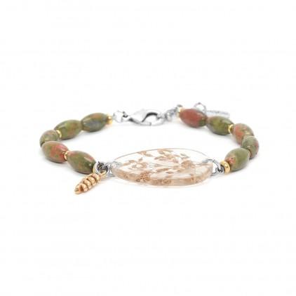 NATURALISTE - Bracelet perles olive - Nature Bijoux