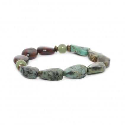 Tarawera Bracelet extensible perles twistées - Nature Bijoux