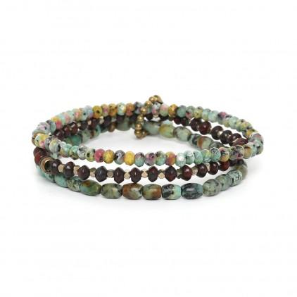 Tarawera 3 bracelets extensibles - Nature Bijoux