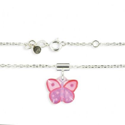Pendentif et chaîne fine papillon - Ribambelle Bijoux