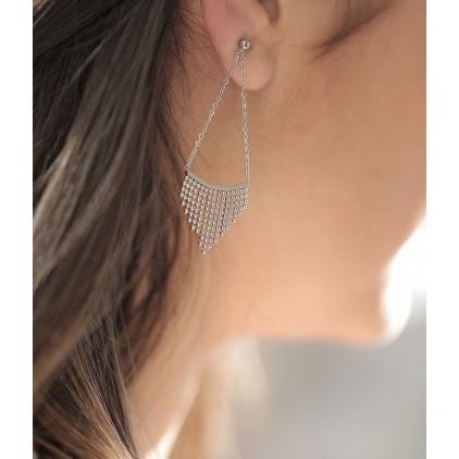 Boucles d'oreilles Pagne – Acier - ZAG