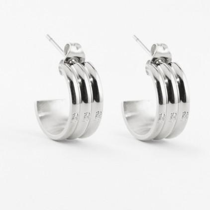 Boucles d'oreilles Damas – Acier - ZAG