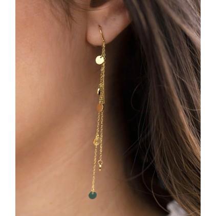 Boucles d'oreilles Confettis – Acier doré - ZAG