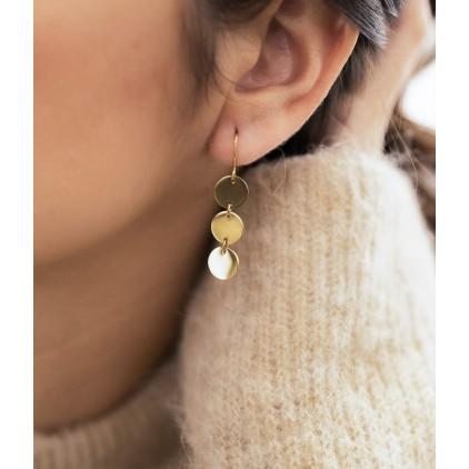 Boucles d'oreilles Cardin – Acier doré - ZAG
