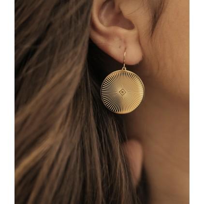 Boucles d'oreilles Ali – Acier doré - ZAG