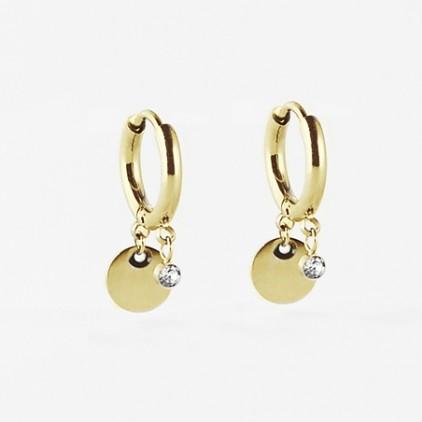 Boucles d'oreilles Béa – Acier doré - ZAG