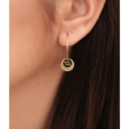 Boucles d'oreilles Santa Sofia – Acier doré - ZAG