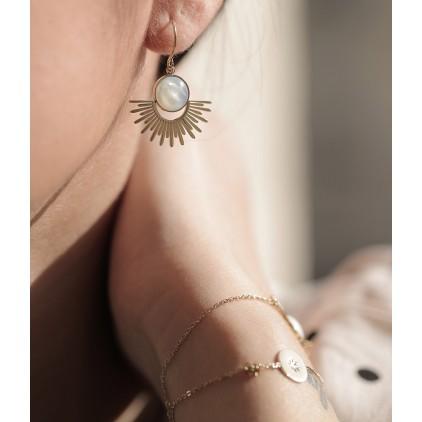 Boucles d'oreilles Cytisus – Acier doré - ZAG