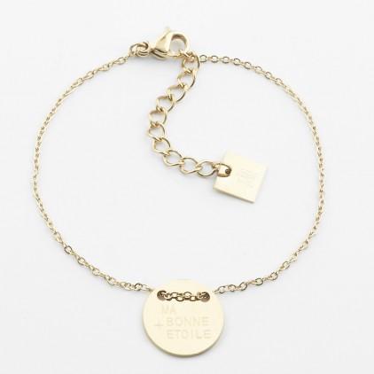 Bracelet Ma bonne étoile – Acier doré - ZAG