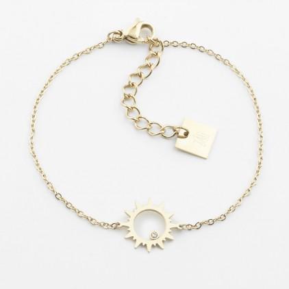 Bracelet Oursin – Acier doré - ZAG