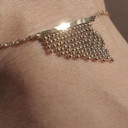 Bracelet Pagne – Acier doré - ZAG