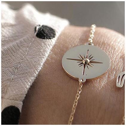 Bracelet Aztèque – Acier doré - ZAG