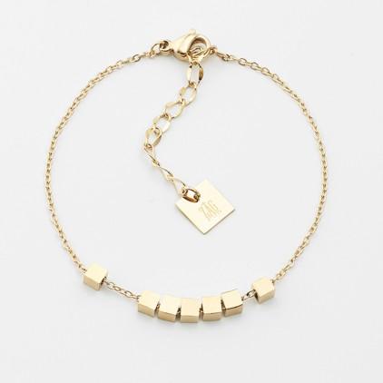 Bracelet Pythagore – Acier doré - ZAG