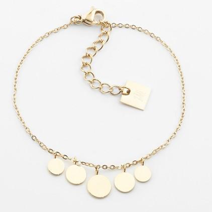 Bracelet Pluton – Acier doré - ZAG