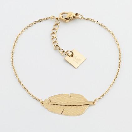 Bracelet Amazonia – Acier doré - ZAG