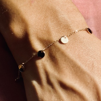 Bracelet Confettis – Acier doré - ZAG