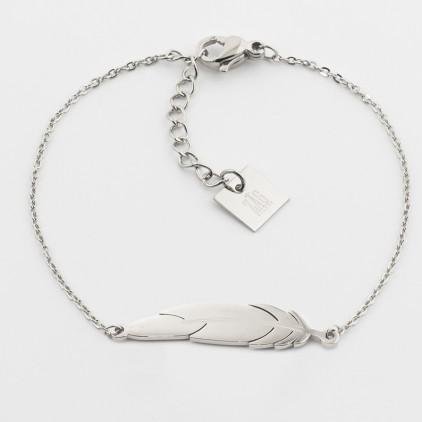 Bracelet Feather – Acier - ZAG