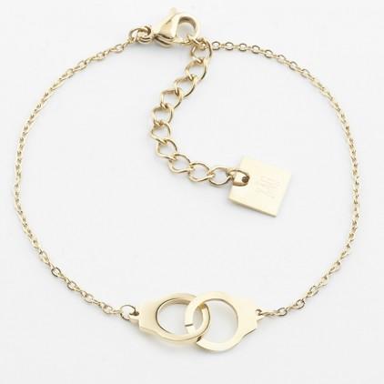 Bracelet Cuff – Acier doré - ZAG