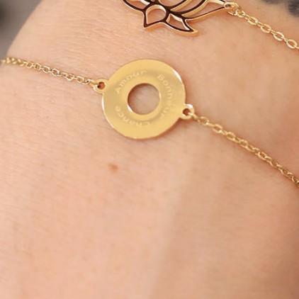 Bracelet Divine – Acier doré - ZAG