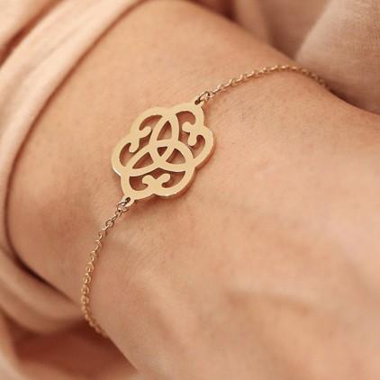 Bracelet Arabesque – Acier doré - ZAG