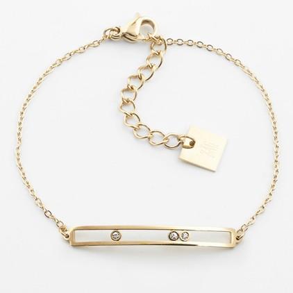 Bracelet Trinity – Acier doré - ZAG