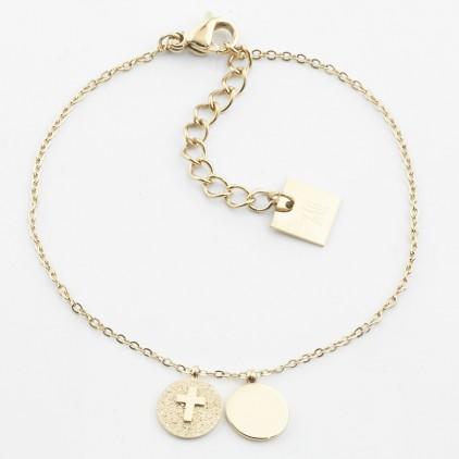 Bracelet Templier acier doré - ZAG